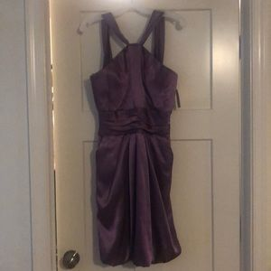 Davids Bridal bridesmaids dress Wisteria